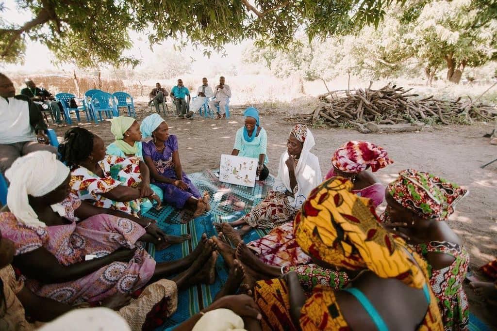Groep vrouwen in Senegal